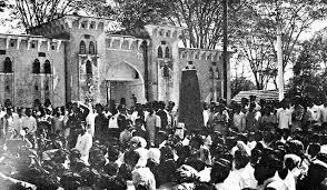تصویری از تظاهرات دانشجویان شهر داکا