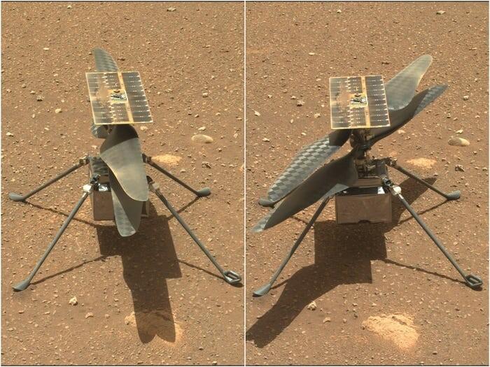 بالگرد نبوغ روی سطح مریخ
