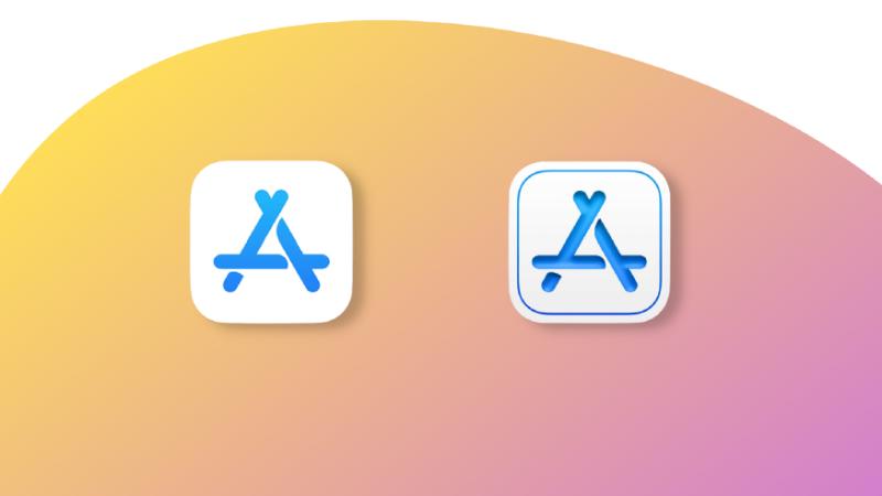 طراحی بهروز شده برای برنامه Apple Store Connect (چپ: نماد قدیمی ، راست: نماد جدید)