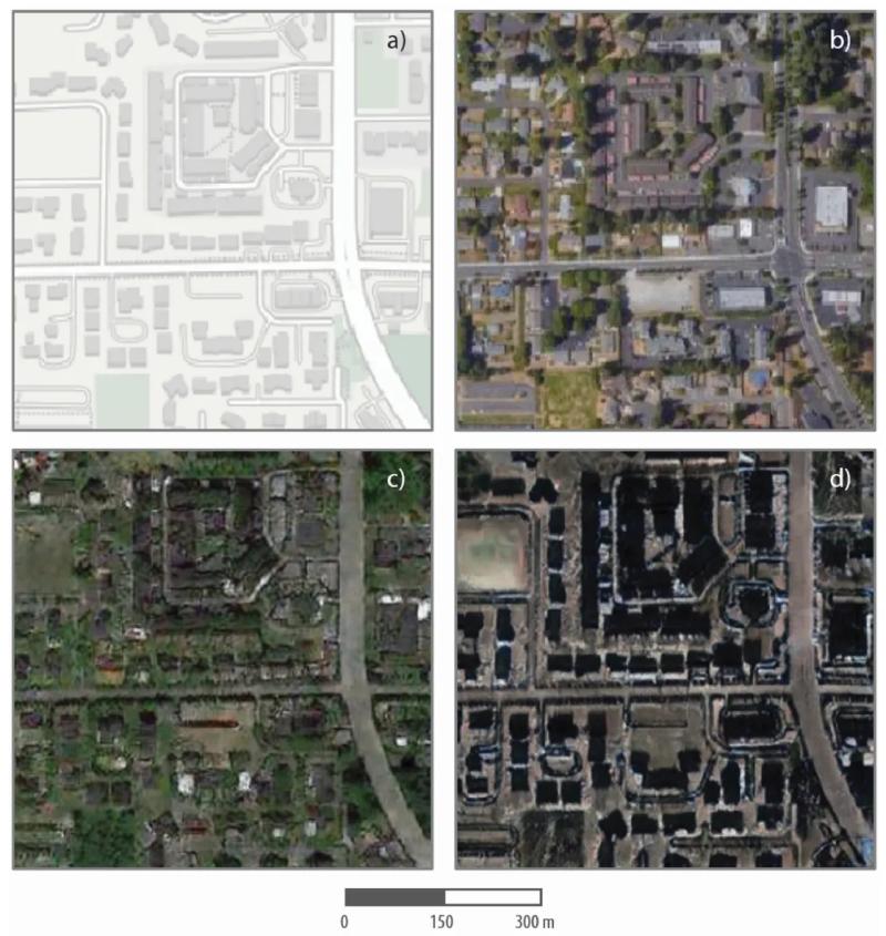 بو ژائو و همکارانش در دانشگاه واشنگتن توانستند تصاویر ماهواره ای تولید شده توسط هوش مصنوعی خود را بسازند.