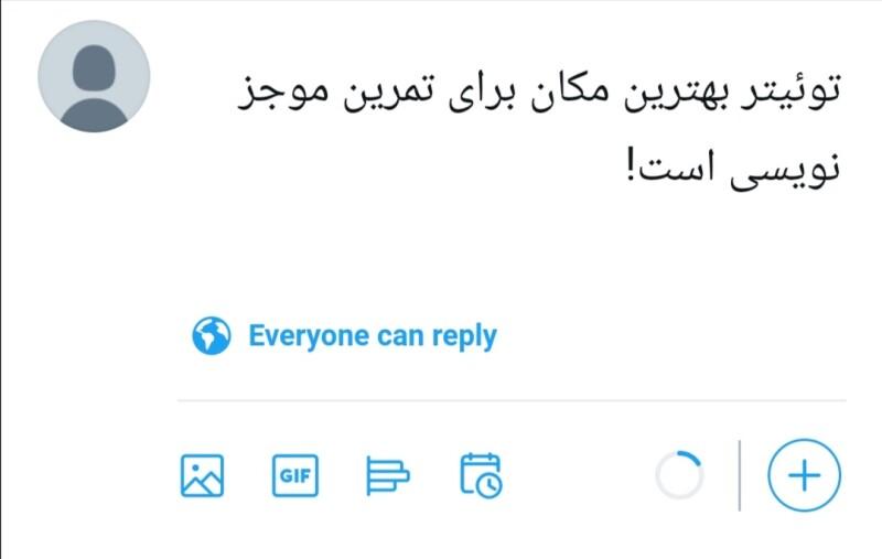 توئیتر بهترین مکان برای تمرین موجز نویسی است.