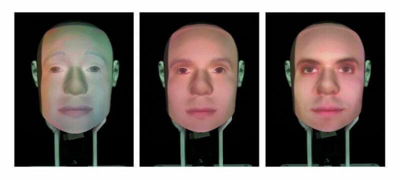 سطوح مختلف شباهت عامل به انسان که در آزمایشات بالا بهکارگرفته شده است.