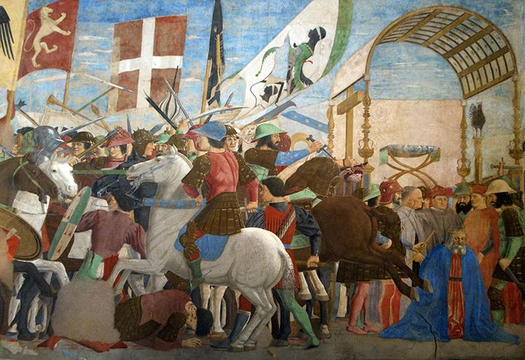 نبرد هراکلیوس و خسرو ، پیرو دلا فرانچسکا ، کلیسای سنت فرانسیس ، آریزو ، ایتالیا ، 1447-66.