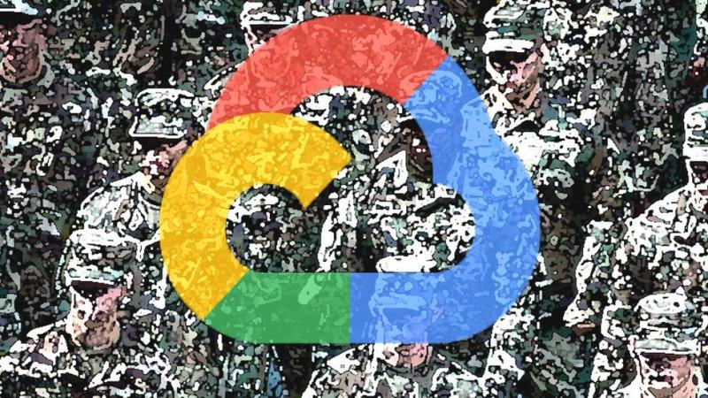 گوگل همکاری بسیاری با ارتش آمریکا و ارگان های دولتی داشته است.