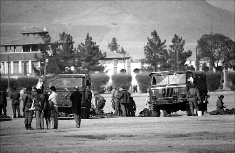 ارتش شوروی در کابل ، افغانستان ، در 31 دسامبر 1979.