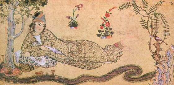 ملکه صبا، نمونهای از نگارگری مکتب قزوین