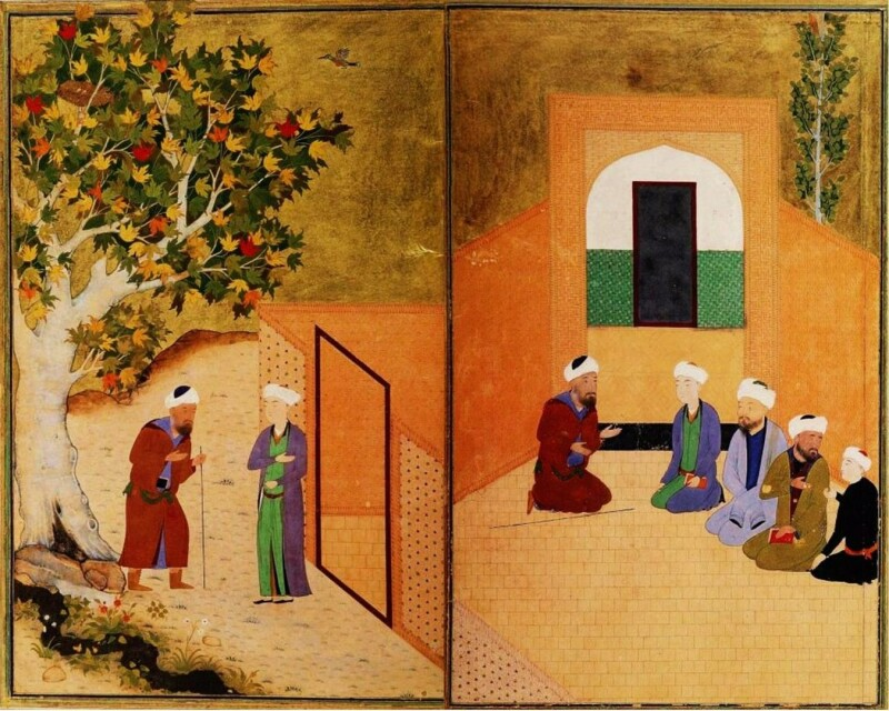 سعدی و جوان کاشغری، بوستان سعدی اواخر سدۀ ۹ هجری